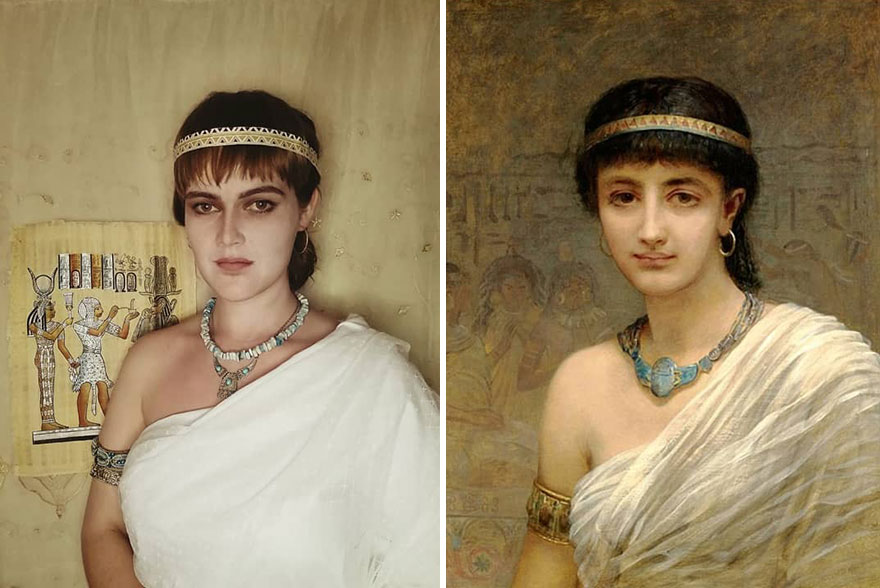 """Edwin Long """"A Votary Of Isis"""" (1891)"""