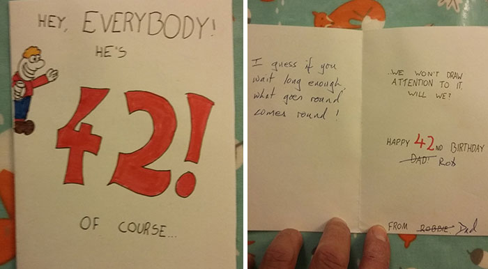 This Dad's Revenge Birthday Card After 28 Years Goes Viral