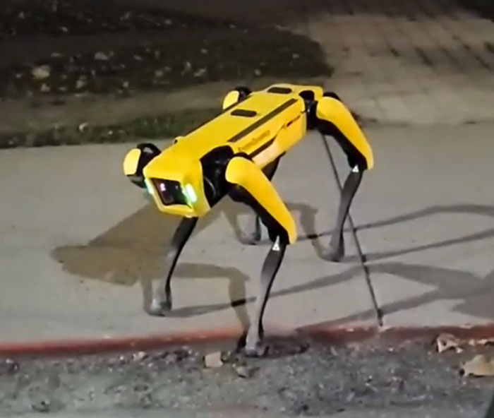 Boston Dynamics' Dog Spotted On The Streets Of Ontario Is Creeping The Internet Out