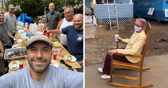 Electrician Fixes 72 Y.O. Woman's Lights, Then Enlists Entire Community To Fix Her Broken-Down House For Free