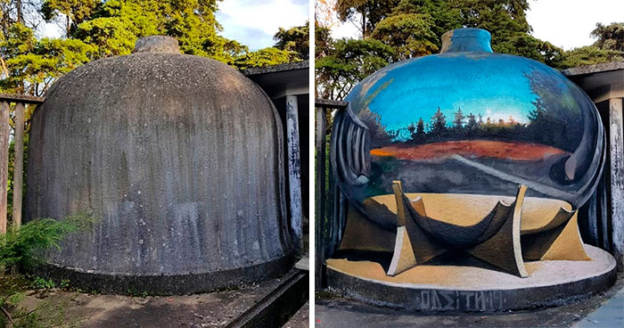 Graffiti Artist Who Got Famous For His 3D Murals Continues Doing What He Does Best