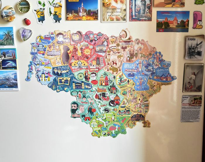 To Increase Local Tourism, Lithuania Has Made A Map With Magnets That You Can Only Find In Corresponding Cities