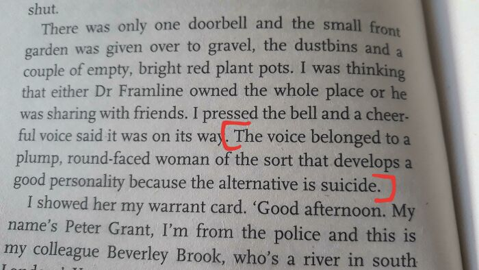 Ugly Women Without Good Personalities Should Kill Themselves [rivers Of London By Ben Aaronovitch]