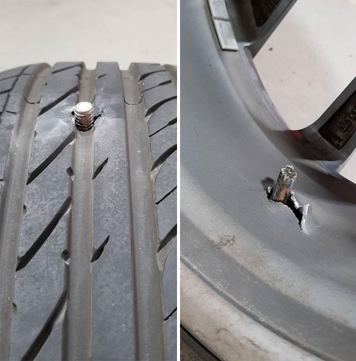 Customer Stated He Needed A Punctured Tyre Repaired, Had To Tell Him He Was Screwed