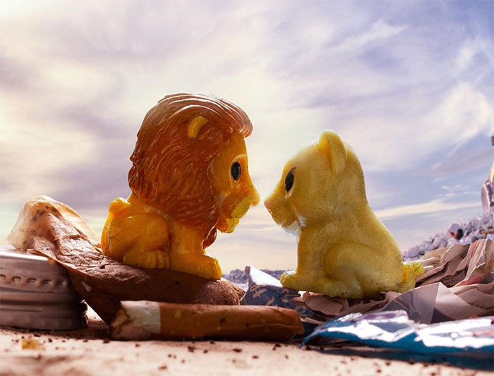 "We Made These Posters Of Disney ""Ooshie"" Toys In A Landfill To Show Supermarkets They Need To Stop Doing Irresponsible Promos"