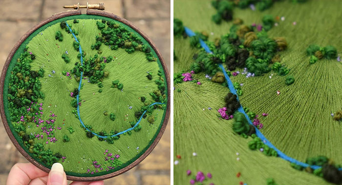 35 Of The Most Beautiful Pieces Of Aerial Embroidery Showing Off British Nature