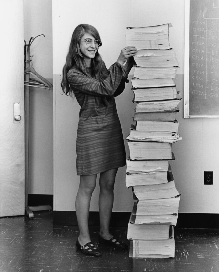 Margaret Hamilton And The Handwritten Navigation Software She And Her Mit Team Produced For The Apollo Project, 1969