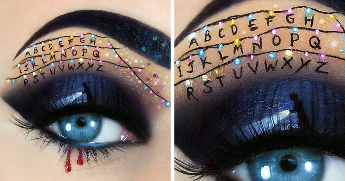 Artist Creates Magical Scenes Using Her Eyelids As A Canvas (89 Pics)