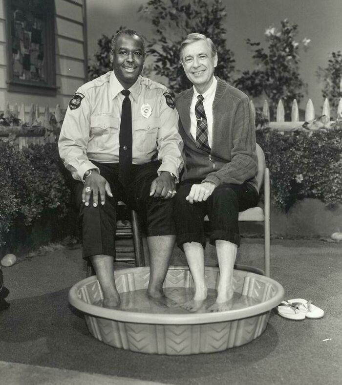 In 1969, When Black Americans Were Still Prevented From Swimming Alongside Whites, Mr. Rogers Decided To Invite Officer Clemmons To Join Him And Cool His Feet In A Pool, Breaking A Well-Known Color Barrier