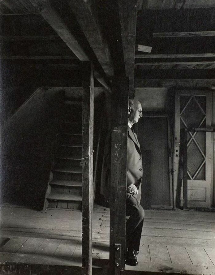 Anne Frank's Father Otto, Revisiting The Attic Where They Hid From The Nazis. He Was The Only Surviving Family Member (1960)