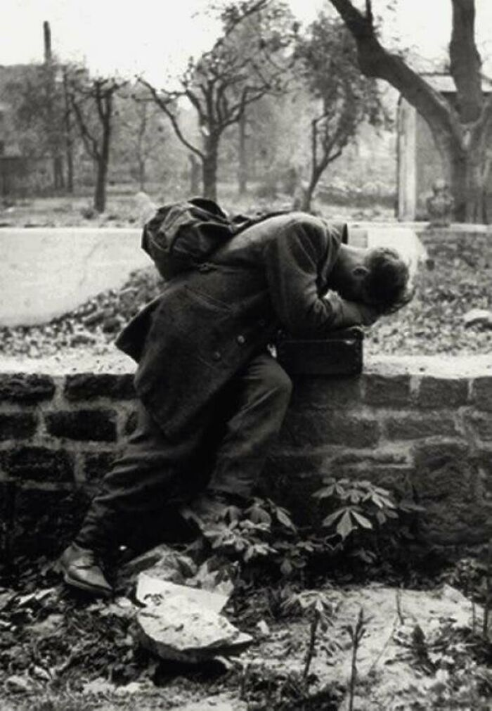 A German Soldier Returns Home Only To Find His Family No Longer There. Frankfurt, 1946