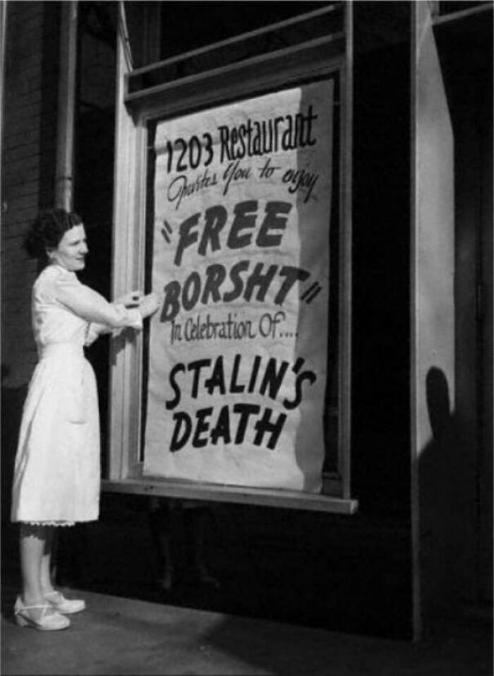 Here Is How An Ukrainian Immigrant Celebrated Stalin's Death, 1953