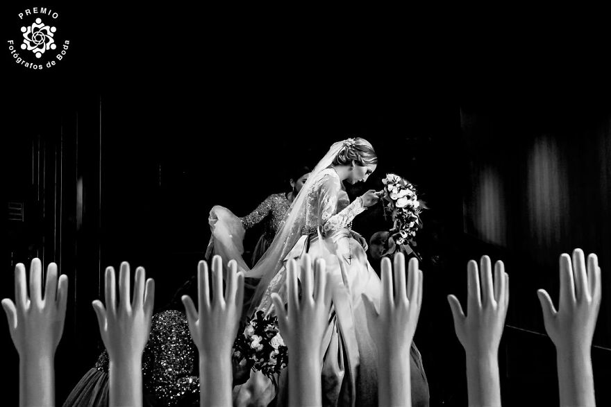 Surreal Bride Among Hands Photographed By Miguel Bolaños