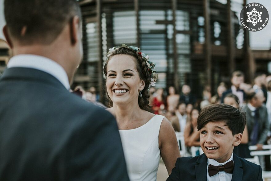 Pure Emotions In This Bride And Son Portrait By Juanmi Alemany