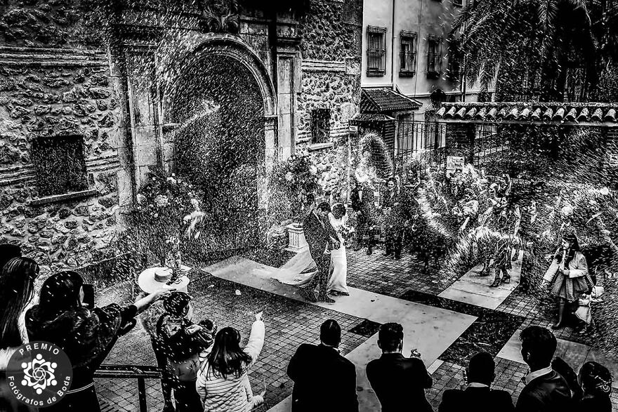 It Is Raining For The Bride And The Groom By Eduardo Blanco