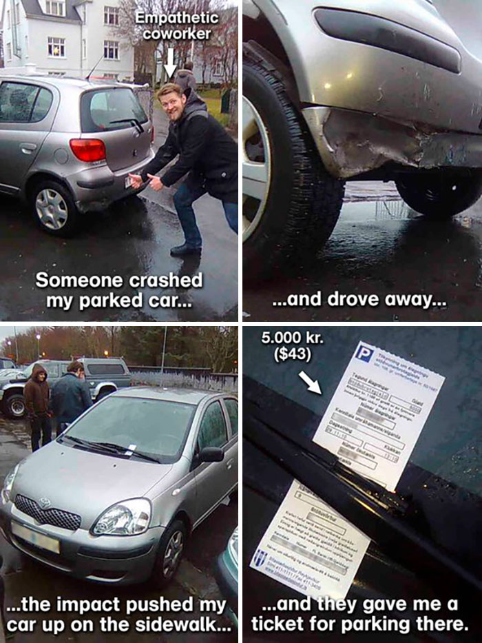 Car Crashed And A Parking Ticket