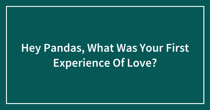 Hey Pandas, What Was Your First Experience Of Love?