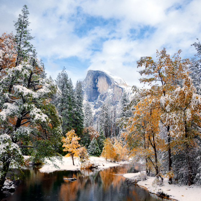 I Drove For 9 Hours (Round Trip) To Capture Fresh Snow And Fall Colors In Yosemite National Park In California