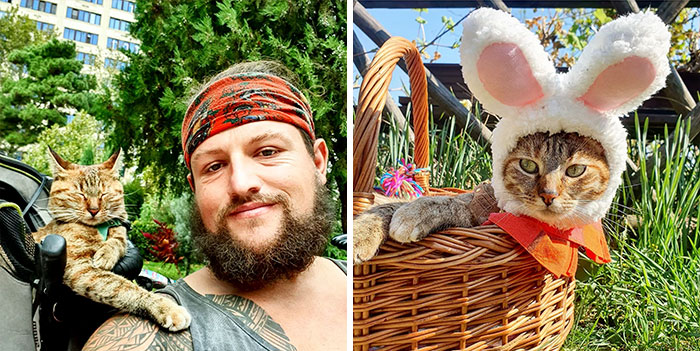 Scottish Man Decides To Cycle Across The Globe Solo, But Finds A Stray Cat Who Accompanies Him (30 Pics)