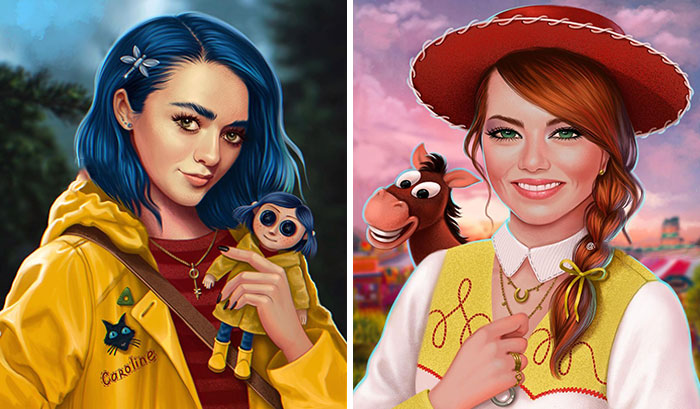 Artist Shows Which Popular Animated Characters Your Favorite Celebrities Should Be (30 Pics)