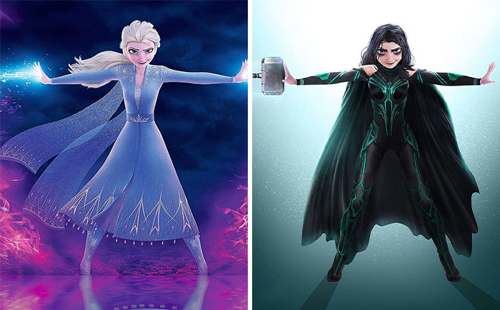 46 Illustrations This Artist Created By Merging Two Well-Known Characters