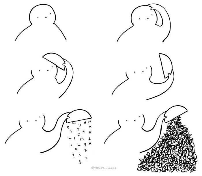 """30 Minimalistic Illustrations That Tackle Mental Health By """"Worry Lines"""""""