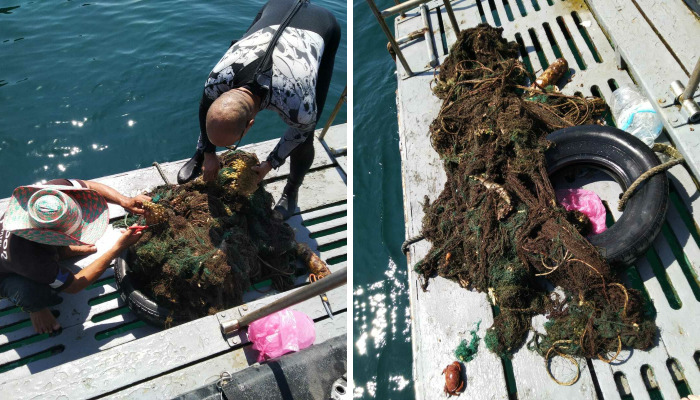 We Removed A Massive Abandoned Fishing Net From A Reef At Our Local Islands