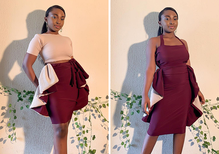 Fashion Designer Creates Genius Dresses That Can Be Styled In Up To 11 Ways And Here Are Her 15 Newest Designs