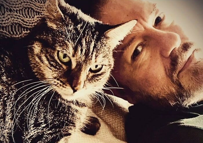 Ricky Gervais Attempts To Foster A Cat But Ends Up Adopting Her And She's Taking Over His Feed