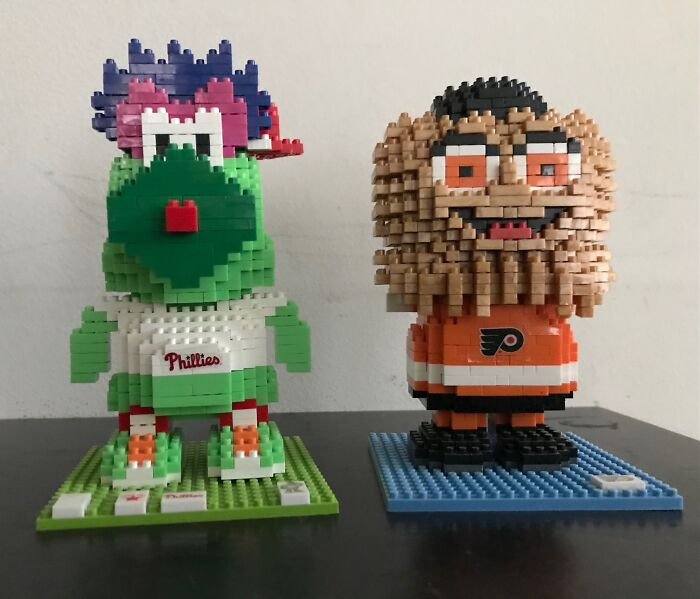 Brxlz Philadelphia Mascots, Phillie Phanatic And Gritty (Lost His Arms)