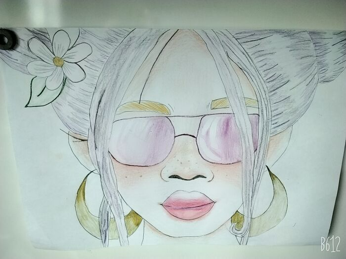 I Am Really Proud Of This Drawing Of A Girl I Drew