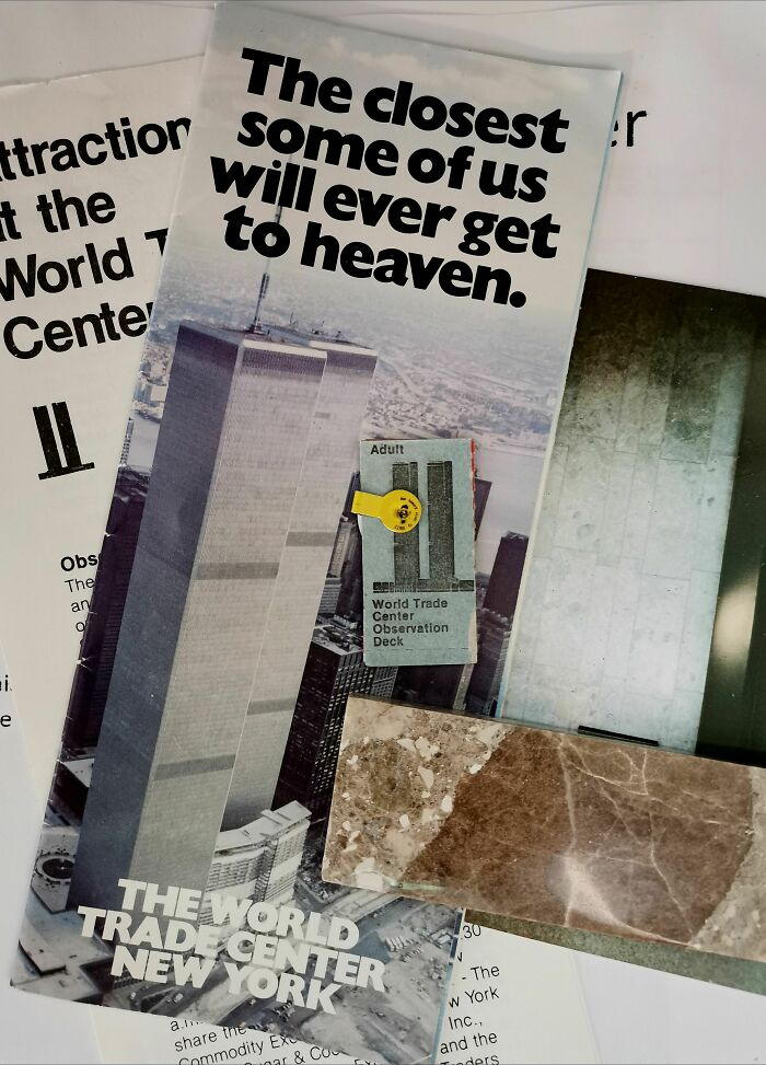 Yes, That Stone Was Part Of The World Trade Center