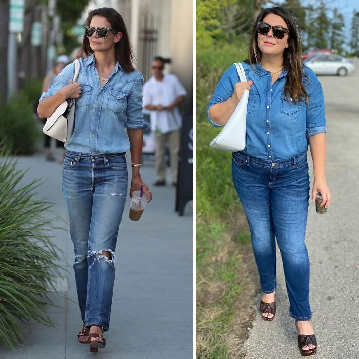 Woman Dresses Like Celebs To Show That You Don't Have To Be Skinny To Look Good (30 New Pics)