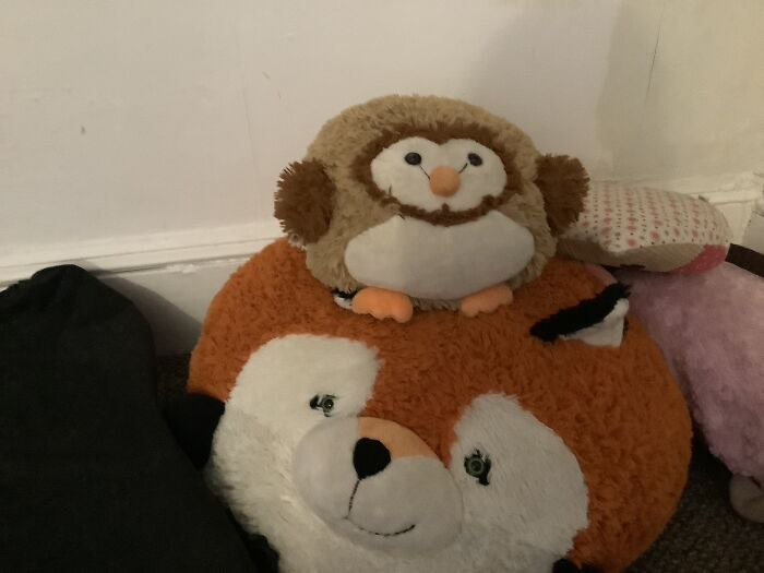 My Derps, The Owl Is Named Squishy And The Fox Is Named Paws.why Do I Own These