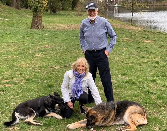 "Major Biden, First Rescue Dog In The White House, Had A Virtual ""Indoguration"" That Attracted 10,000 Viewers"