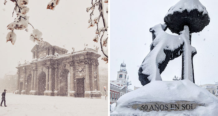 The Largest Snowfall In Half A Century Hit Madrid This Weekend And I Captured This Historic Event (35 Pics)