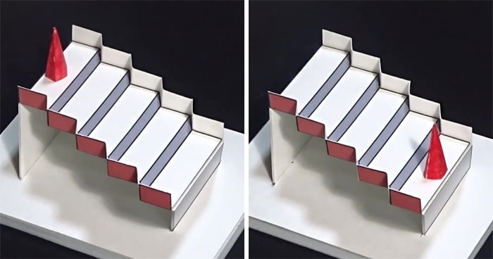 Brain-Bending 3D Schröder Staircase Optical Illusion Won Best Illusion of The Year 2020 Contest
