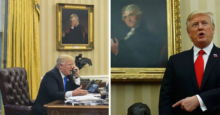 """""""Peculiar Goings On In The Artwork At The White House"""" (9 Pics)"""