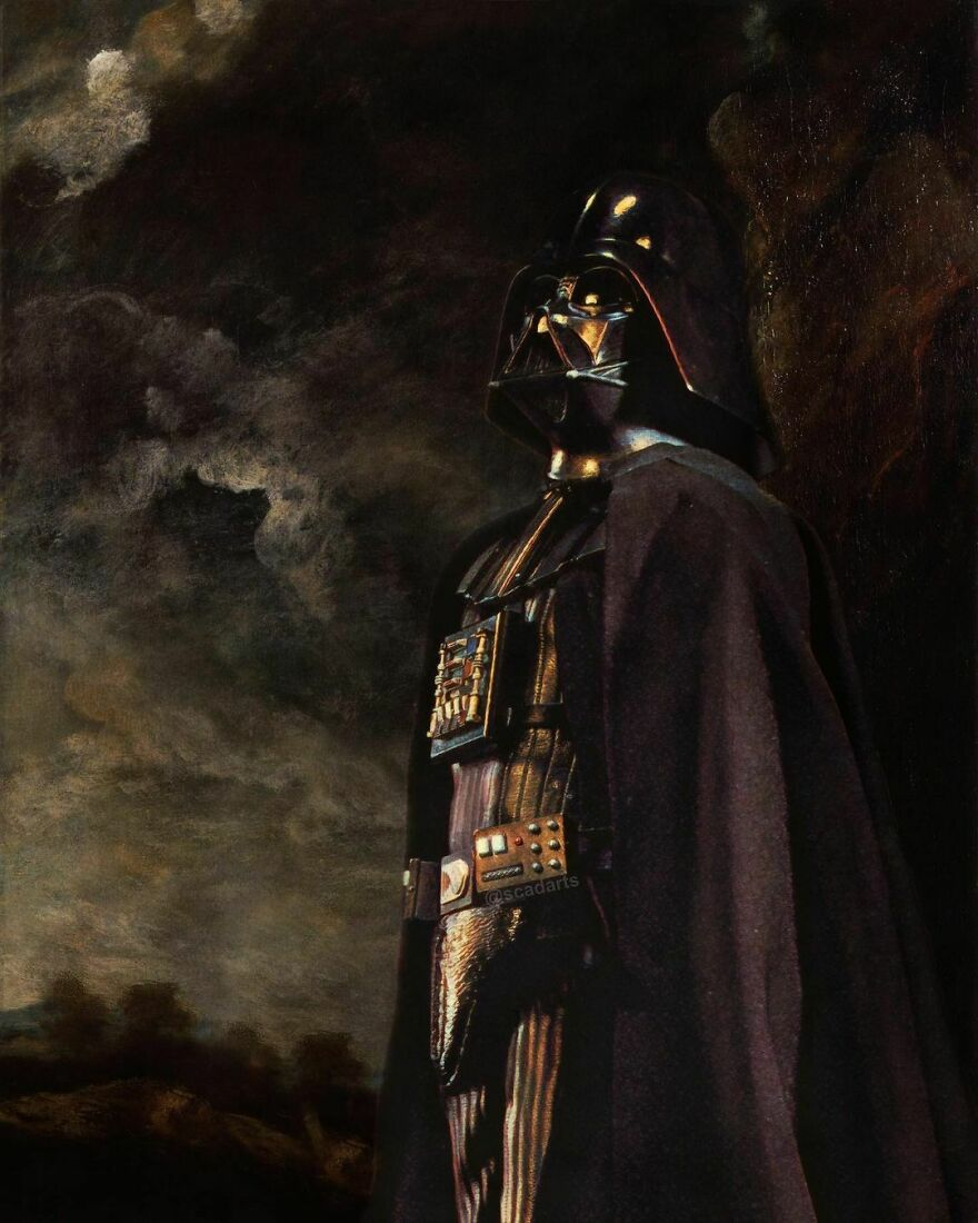 Lord Vader Trying Out A Different Twist On Old Paintings