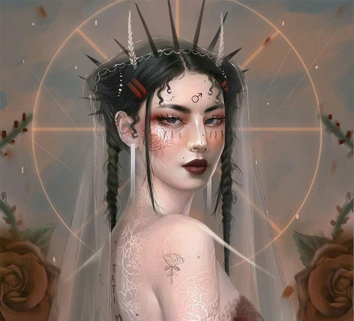 Artist Imagines What Zodiac Signs, Planets, And Elements Would Look Like As Women (37 Pics)