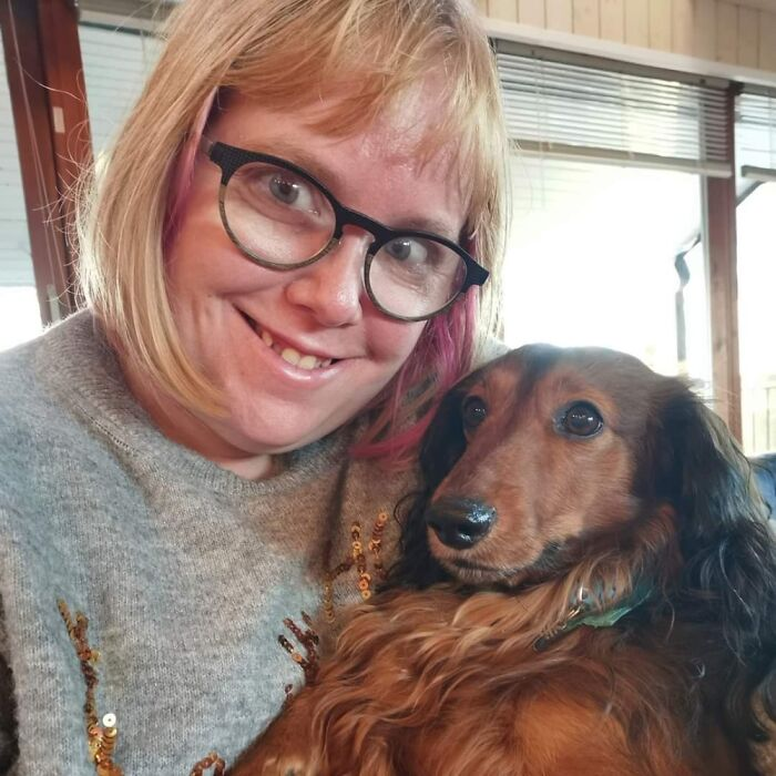 Me And One Of My Three Doxie Phillip