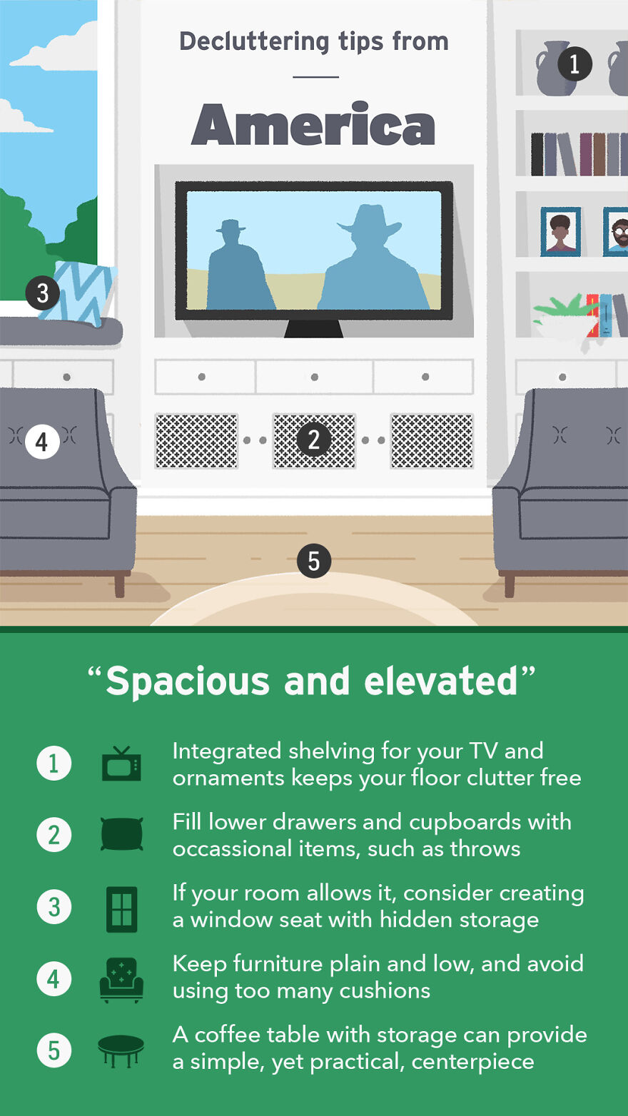 Decluttering Tips From The USA