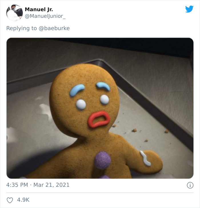Gingy The Gingerbread Man, Voiced By Conrad Vernon, In The Shrek Series