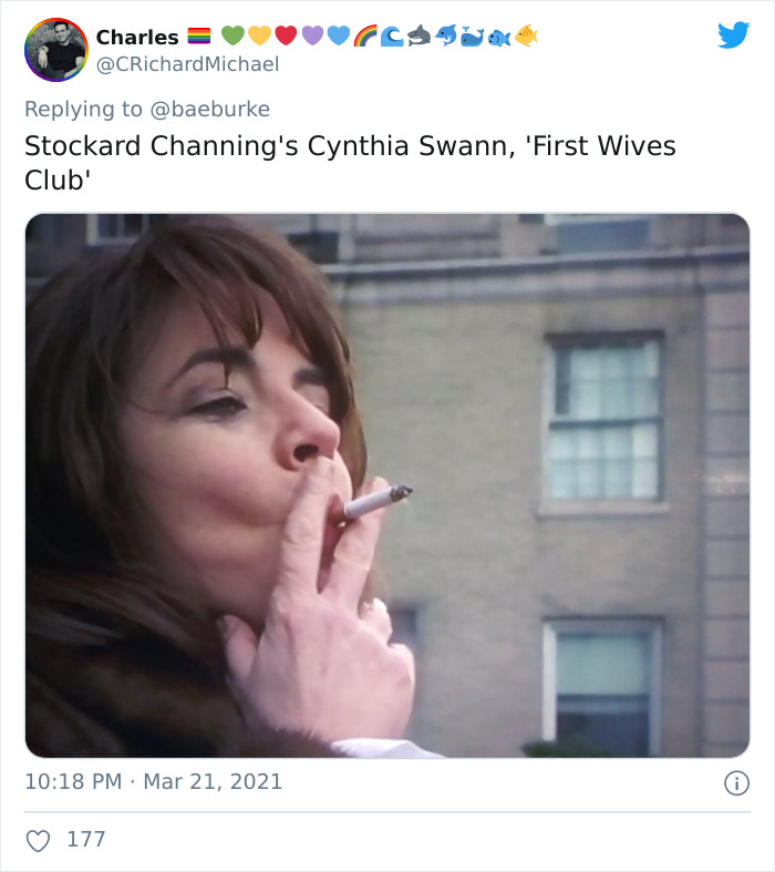 Cynthia Swann, Portrayed By Stockard Channing, In The First Wives Club (1996)