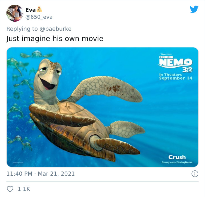Crush, Voiced By Andrew Stanton, In Finding Nemo (2003)
