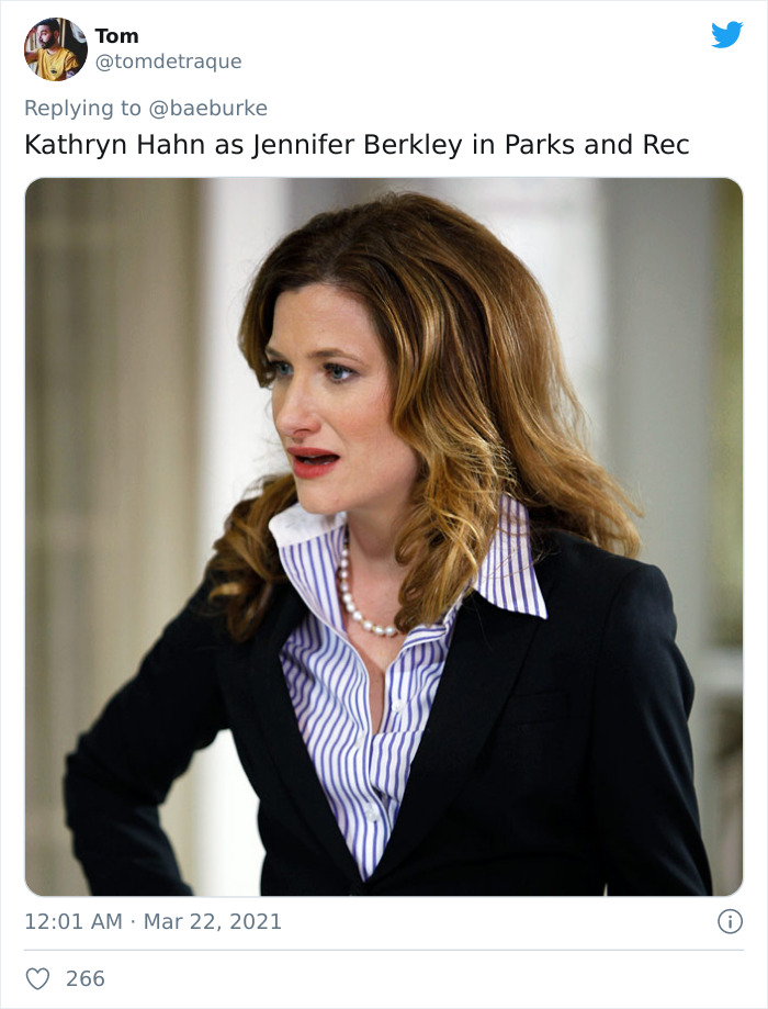 Jennifer Barkley, Portrayed By Kathryn Hahn, In Parks And Recreation (2009)