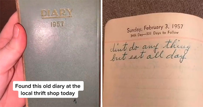 Diary From 1957 Found In Thrift Store Shows What A Housewife's Life Was Like Back Then