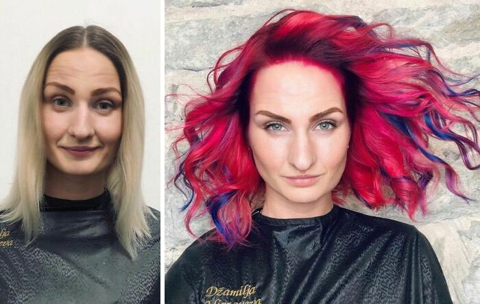 28 Women Who Chose An Unusual Color For Their Hair And Ended Up Looking Badass