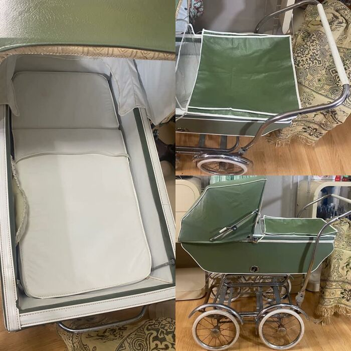 Rescued From The Landfill. Spent Two Saturdays Cleaning The Grime. It's A 1950s (??) Stroll-O-Chair Convertible. So Cool!!