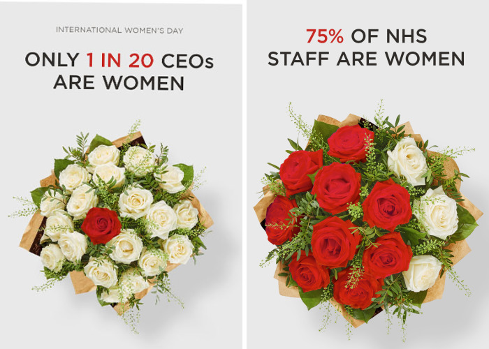 Flower Company Highlights Gender Inequality With New Bouquets